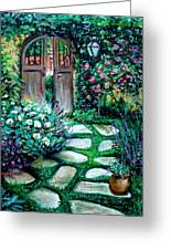 Cottage Gates Greeting Card