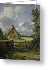 Cottage In A Cornfield Greeting Card by John Constable