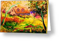 Cottage In Maine Greeting Card