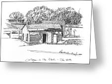 Cottage In The Park Greeting Card