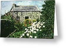 Cottage Of Stone Greeting Card by David Lloyd Glover