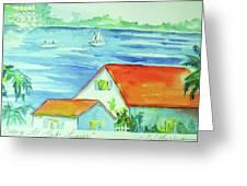 Cottage On Lake Lanier Greeting Card