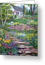 Cottage On The Hilltop Greeting Card