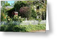 Cottage Picket Fence Greeting Card