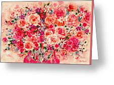 Cottage Roses Greeting Card