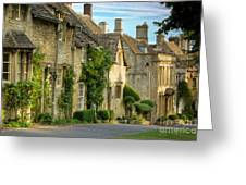 Cottage Row - Burford Greeting Card
