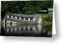Cottage Sinking In The Rideau Canal Greeting Card