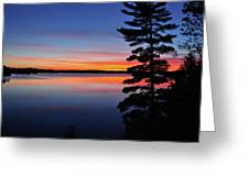 Cottage Sunset Greeting Card