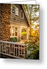 Cottage Sunset In Deep Cove, Nova Scotia Greeting Card