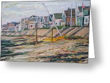 Cottages Along Moody Beach Greeting Card