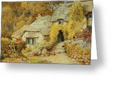Cottages At Selworthy, Somerset Greeting Card