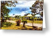 Cottages In A Landscape Greeting Card