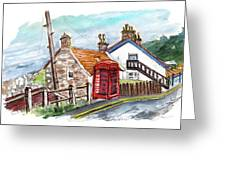Cottages In Runswick Bay Greeting Card
