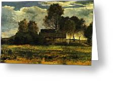 Cottages On The Dachau Marsh 1902 Greeting Card