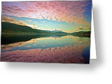 Cotton Candy Clouds At Skaha Lake Greeting Card