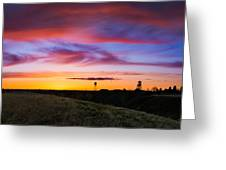 Cotton Candy Sunrise Over The Galt Greeting Card