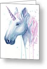 Cotton Candy Unicorn Greeting Card