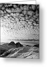 Cotton Sky Chamonix France Greeting Card
