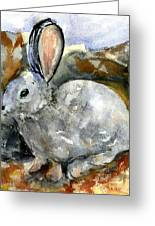 Cottontail In Camouflage Greeting Card