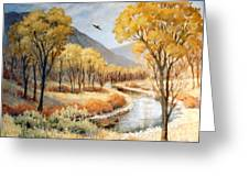 Cottonwood Canyon Autumn Greeting Card