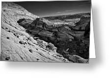 Cottonwood Creek Strange Rocks 7 Bw Greeting Card