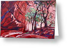 Cottonwoods At Chelly Greeting Card by Erin Hanson