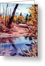 Cottonwoods In October Greeting Card
