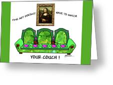 Couch Art Greeting Card
