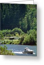 Couer D' Alene Power Boating Greeting Card