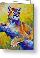 Cougar Portrait I Greeting Card