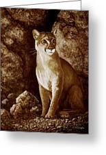 Cougar Wait Until Dark  Greeting Card