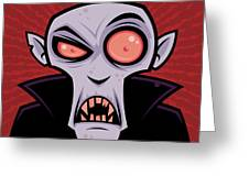 Count Dracula Greeting Card
