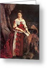 Countess Vera Zubova Konstantin Makovsky Greeting Card