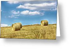 Country Bales Greeting Card