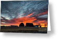 Country Barns Sunrise Greeting Card