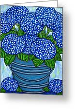 Country Blues Greeting Card by Lisa  Lorenz