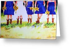 Country Bride Greeting Card