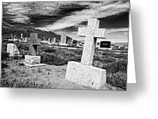 Country Cemetery Greeting Card