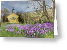 Country Charm School Greeting Card by Lori Deiter