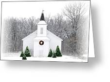 Country Christmas Church Greeting Card