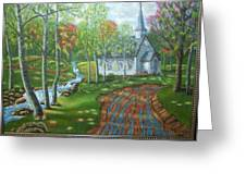 Country Church Greeting Card