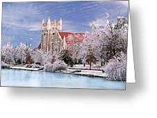 Country Club Christian Church Greeting Card by Steve Karol
