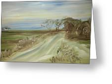 Country Coastal Road Greeting Card