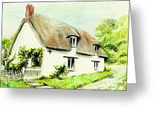 Country Cottage England  Greeting Card