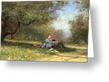 Country Couple Greeting Card