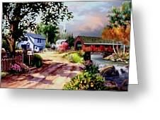 Country Covered Bridge 3 Greeting Card