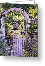 Country Garden Gate Greeting Card