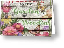 Country Garden Sign-e Greeting Card