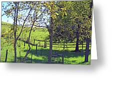 Country Green Greeting Card