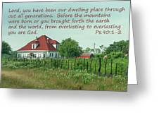 Country Home Ps.90 V 1-2 Greeting Card